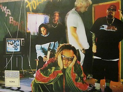 Korn, David Silveria, Double Full Page Vintage Pinup