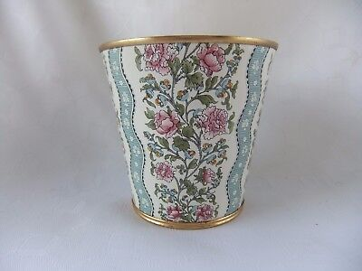 "Halcyon  Days  Enamel  Floral Decorated  Beaker / Tumbler  -  Stands 3 1/4"" High"