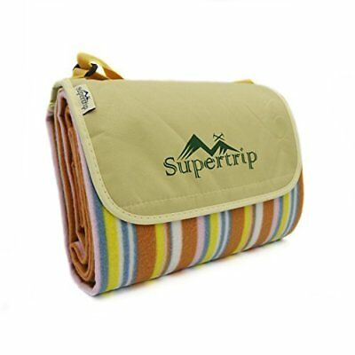 Supertrip 198 x 145 cm Picnic Blanket Picnic Rug PVC Waterproof Backing