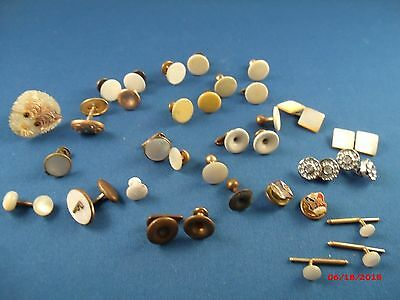 Vintage LOT Men's costume jewelry cufflinks, shirt buttons VERY OLD