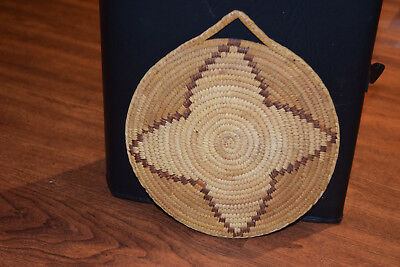 Lovely Vintage Tohono O'odham Papago Indian Star Plaque Basket Native American