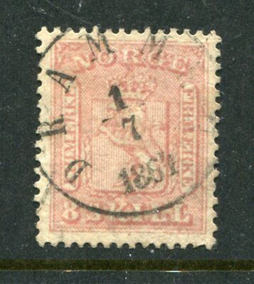 NORWAY 1863 8s Fine used Stamp