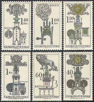 Czechoslovakia 1970 Buildings/Signs/Architecture/Clock Towers/Lion 6v set n41667