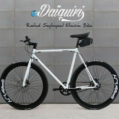 EBike Electric Bike 700c eDaiquiri WHITE Single Speed Bicycle e-bike Size 58cm L