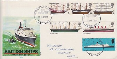 Gb Stamps 1969 Ships Lloyds Of London First Day Cover Postal History Collection