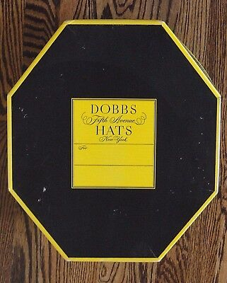 Vintage DOBBS Fifth Avenue New York Octagonal Hat Box
