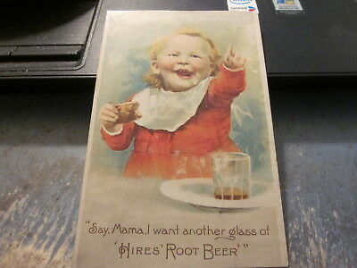 """Hires Root Beer Trade Card 3 x 4 3/4"""""""