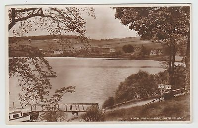 Loch Shin at Lairg in 1930's (Est) Real (Matt/Satin) Photo PPC, GVG Used 1938.