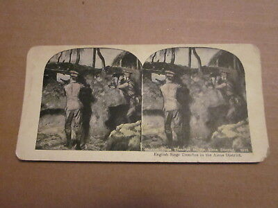 Stereoview English Seige Trenches in he Aisne District War