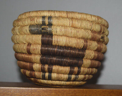 Early 1930s Hopi Indian Coil Basket Second Mesa Deer Antelopes Native American
