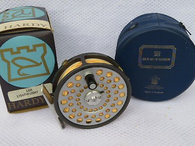 Hardy LRH Lightweight Made In England Fly Fishing Reel + Case and outer box