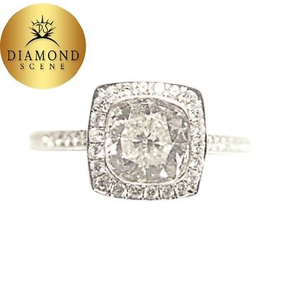 Gia Diamond Cushion Brilliant Round Side Briliant I Color Vs2 Clarity Engagement