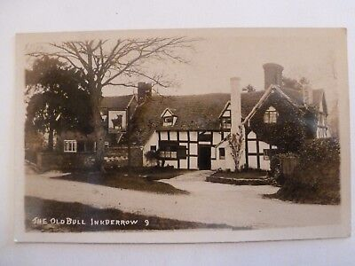Vintage Postcard The Old Bull Inkberrow 9 Real Photograph (V)