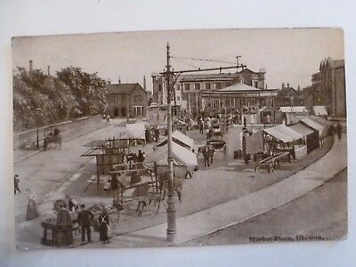 Vintage Postcard Markey Place Ilkeston Real Photograph 1920 (V)