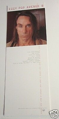 Iggy Pop 1999 Promo Record Store Stand up Display Counter Bin