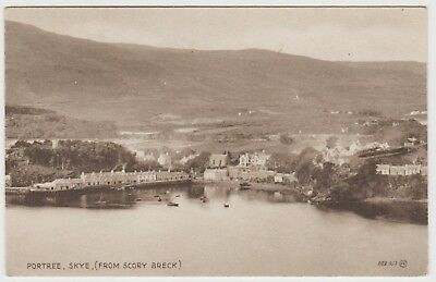 Portree, Skye, from Scory Breck, in Old 1920's PPC, VG Unused.