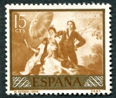 SPAIN 1958 15c SG1273 mint MNH FG Stamp Day and Goya Commemoration #W45