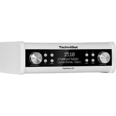 150728 Technisat Digitradio 20 Dab+ Digitalradio Kã¼Chenradio Weiss
