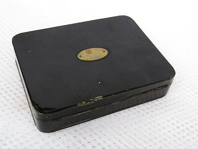 Hardy Black Japanned Fly Fishing Box With Flies