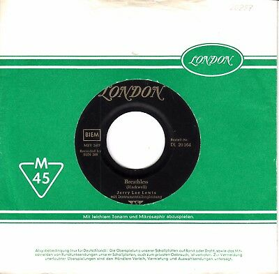 """7""""-  Jerry Lee Lewis =  Breathless / Down The Line"""