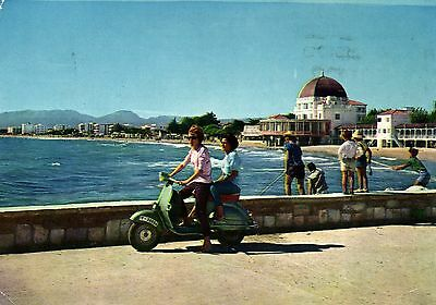 Vespa ?Scooter Casta Brava Spain larger modern  photo postcard
