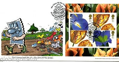 2004 Garden Glory Great Britain Phil Stamp Official Illustrated Fdc 25/100 Vgc