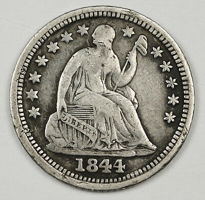 1844-o Liberty Seated Half Dime.  V.F.  117287