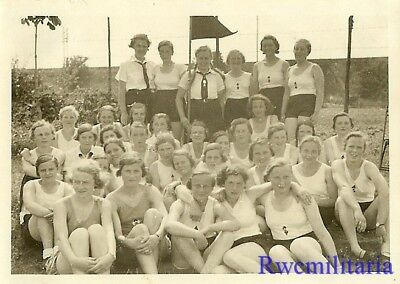 **RARE: German Teen BDM Girls Truppe Posed in Uniforms & Athletic Gear !!!**
