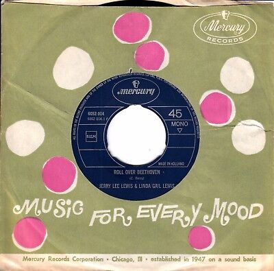 """7""""-  Jerry Lee Lewis & Linda Gail Lewis = Roll Over Beethoven / What's Milwaukee"""