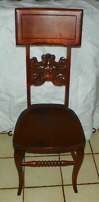 Cherry Carved Old Man of the North Hall Chair / Entry Chair  (SC271)