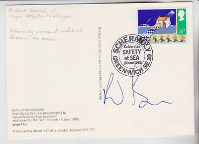Gb Stamps 1985 Lifeboats Phq First Day Signed By Virgin Boss Richard Branson