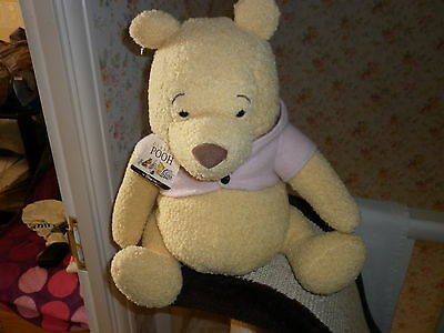 Approx 15 Inch High Walt Disney Classic Pooh Bear Pink Jacket POSTFREE U/KINGDOM