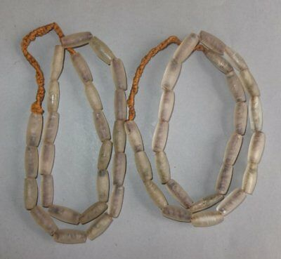 Two Necklaces Strands Glass Beads Nepal