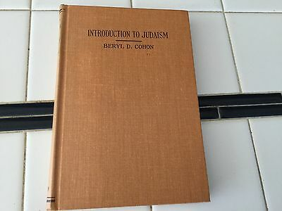 Introduction to Judaism 1957 Beryl Cohon