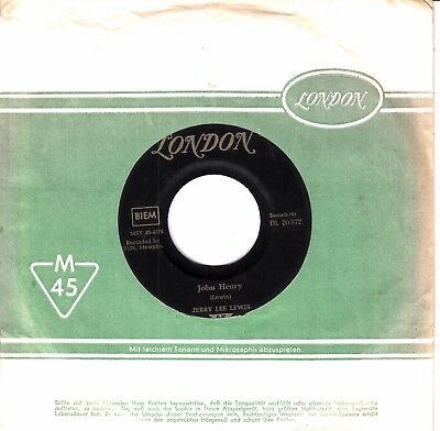 """7""""-  Jerry Lee Lewis =  John Henry / Hang Up My Rock And Roll Shoes"""