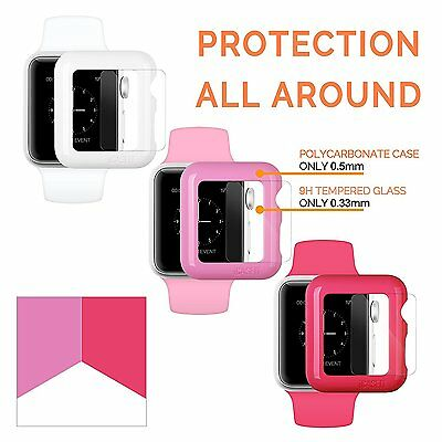 Kit 3 cover Apple Watch 38 mm + 2 vetri