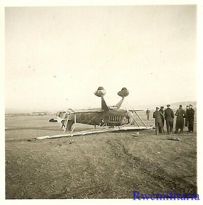 **RARE: Spanish Nationalist Air Force He-51 Fighter Plane Crashed in Field!!!**