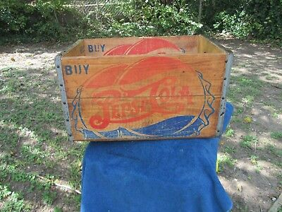 Vintage Pepsi Cola Wooden Box  Case 1954