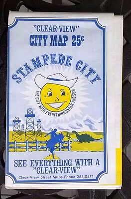 1972 Clear-View City Map - Stampede City Calgary