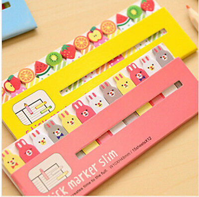 Kawaii  Sticker Bookmark It Marker Memo Index Tab Sticky Post Notes Styles FG