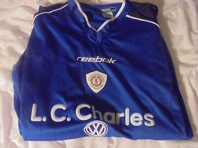 Crewe Alexandra Away Blue Football Shirt Jersey Long Sleeve XXL 46/48""