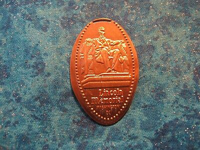 LINCOLN MEMORIAL WASHINGTON D.C. Elongated Penny Pressed Smashed 19