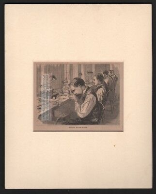 Watch Makers Setting Up The Watch MATTED c1869 Harpers Monthly Engraved Print
