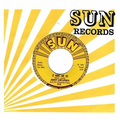 """7""""-  Jerry Lee Lewis  =  It Hurt Me So  /  I'll Sail My Ship Alone"""