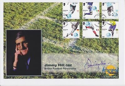 Gb Stamps 2006 Football First Day Cover Signed Legend Jimmy Hill Obe 1928-2015