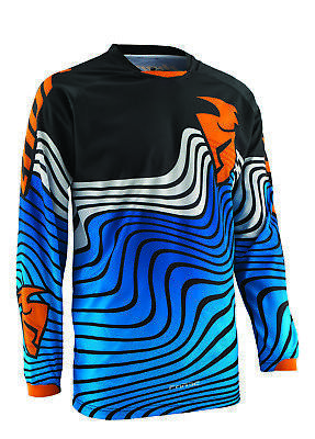 Thor Motocross Men's MX ATV Motocross Jersey S5S Topo Blue Medium