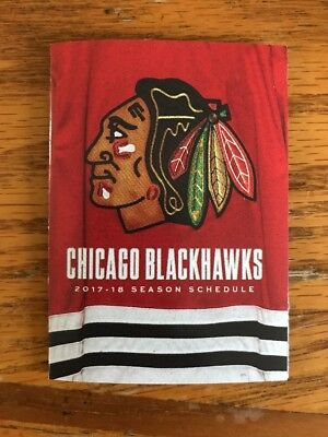 17-18 Chicago Blackhawks Hockey Season Pocket Schedule NHL Original 6 Sharp