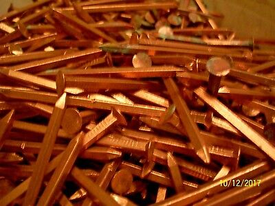 "40 - Antique, Solid Copper 3"" Long Square Nails,  Marine-Boat-Anything-Deco"