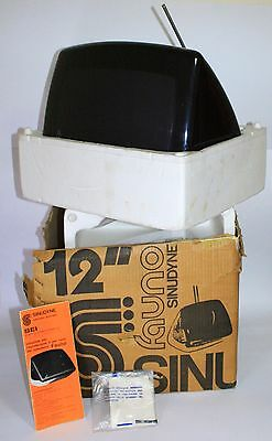 """Vintage 1973 Television Sinudyne Fauno 12"""" + Box + Instructions Italy Space Age"""