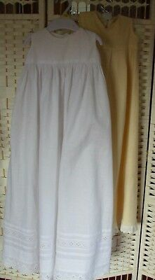 2 x vintage baby cotton/wool  nightgowns